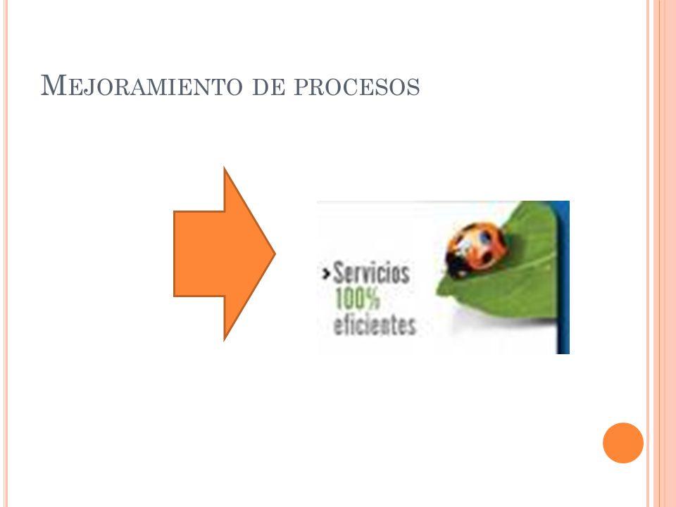 M EJORAMIENTO DE PROCESOS