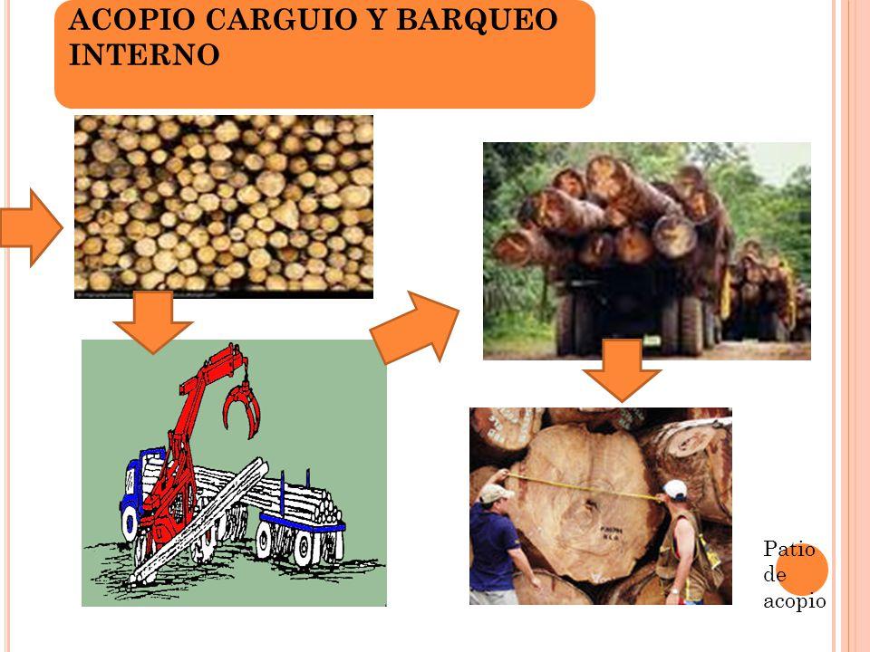 ACOPIO CARGUIO Y BARQUEO INTERNO Patio de acopio