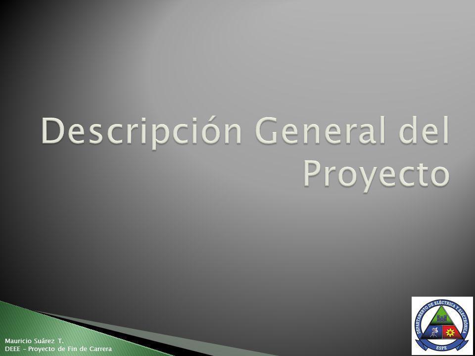 Mauricio Suárez T. DEEE - Proyecto de Fin de Carrera