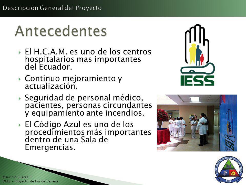 El H.C.A.M. es uno de los centros hospitalarios mas importantes del Ecuador. Continuo mejoramiento y actualización. Seguridad de personal médico, paci