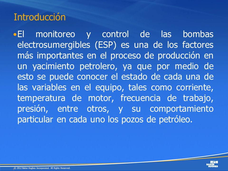 Introducción El monitoreo y control de las bombas electrosumergibles (ESP) es una de los factores más importantes en el proceso de producción en un ya
