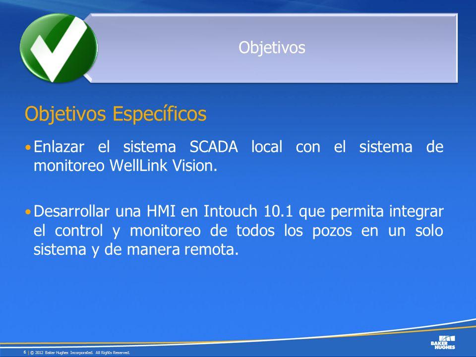 Enlazar el sistema SCADA local con el sistema de monitoreo WellLink Vision. Desarrollar una HMI en Intouch 10.1 que permita integrar el control y moni