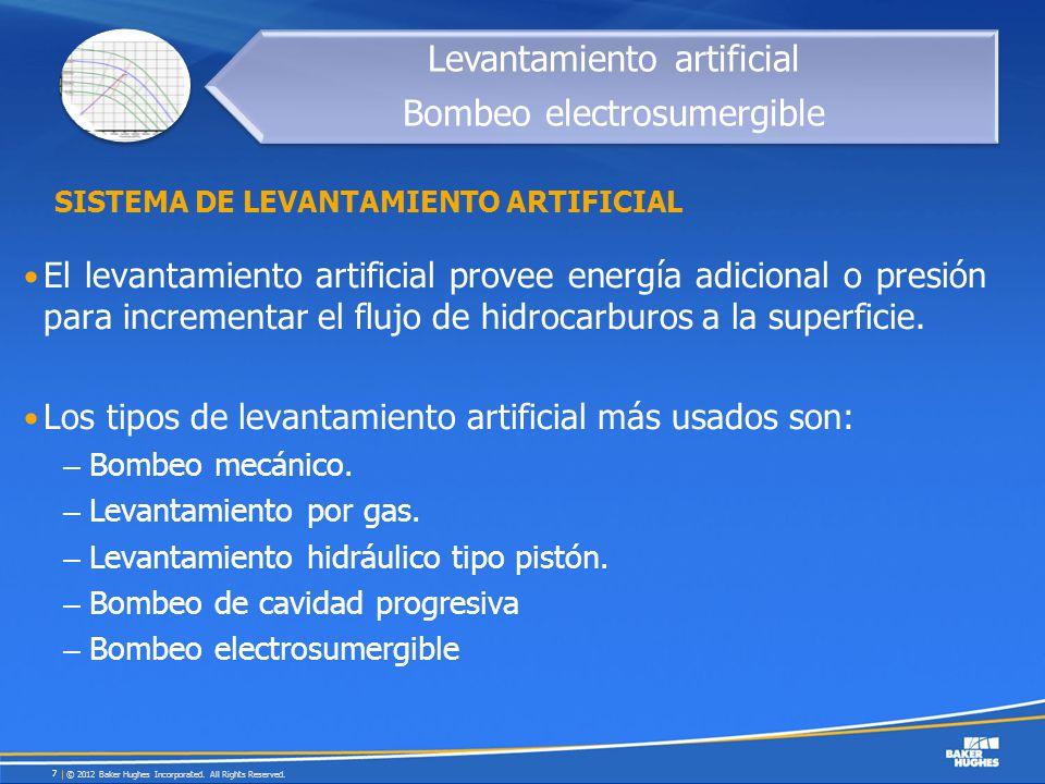 El levantamiento artificial provee energía adicional o presión para incrementar el flujo de hidrocarburos a la superficie. Los tipos de levantamiento