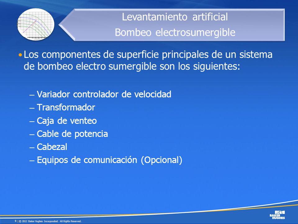 Los componentes de superficie principales de un sistema de bombeo electro sumergible son los siguientes: – Variador controlador de velocidad – Transfo