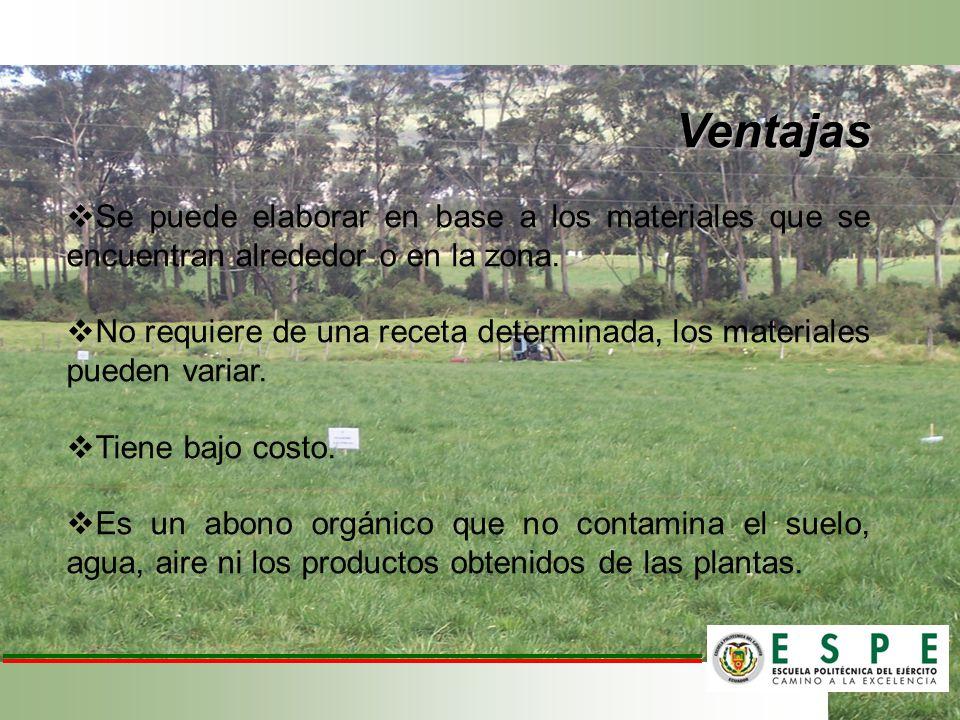 Promedio de el valor nutritivo y materia seca (expresada en %) de las praderas en rehabilitación bajo la aplicación de biol y fertilización química.