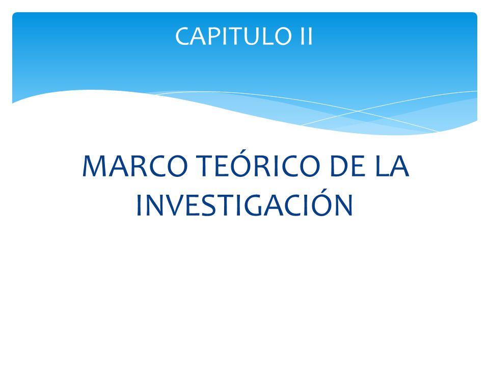 MARCO TEÓRICO DE LA INVESTIGACIÓN CAPITULO II