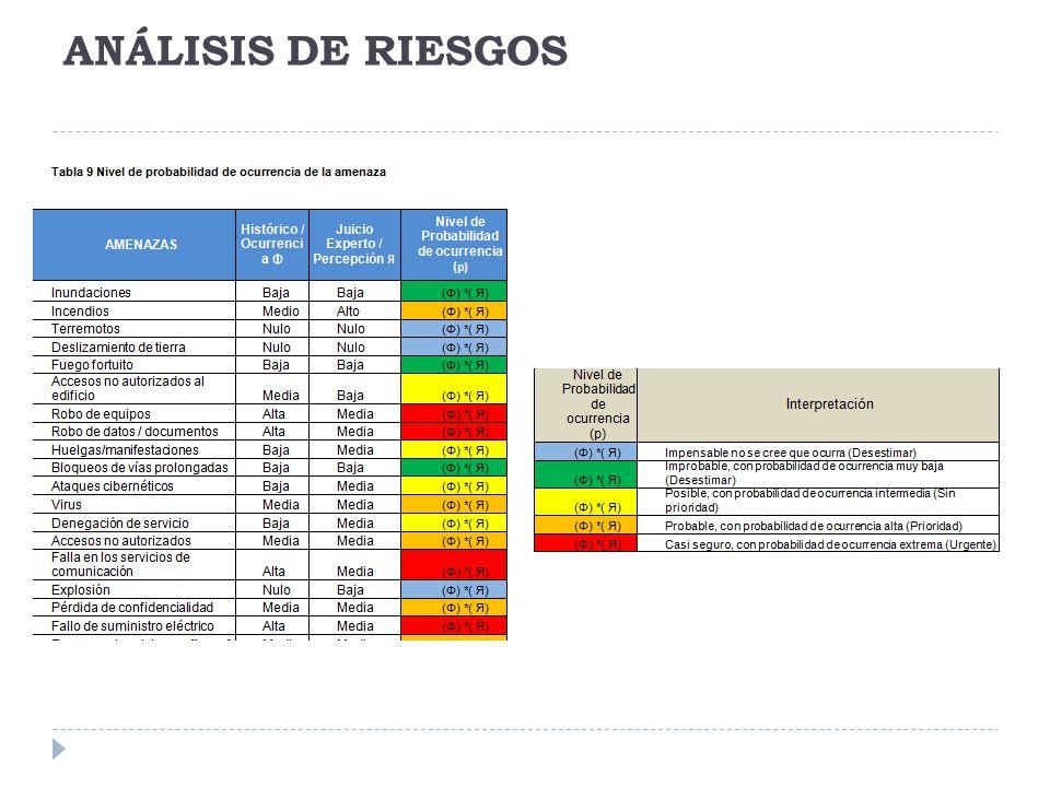 ANÁLISIS DE RIESGOS