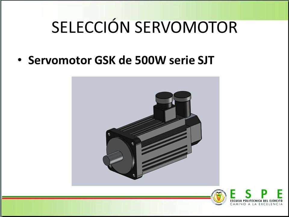 SELECCIÓN SERVOMOTOR Servomotor GSK de 500W serie SJT