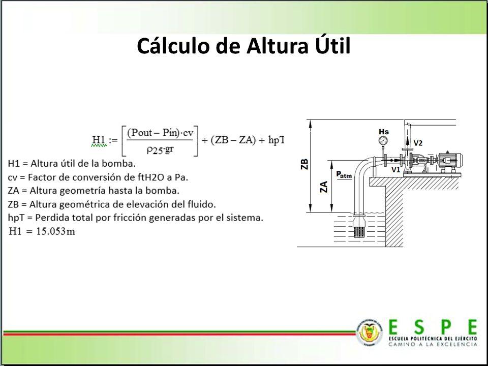 Cálculo de Altura Útil