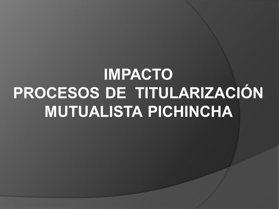 IMPACTO PROCESOS DE TITULARIZACIÓN MUTUALISTA PICHINCHA