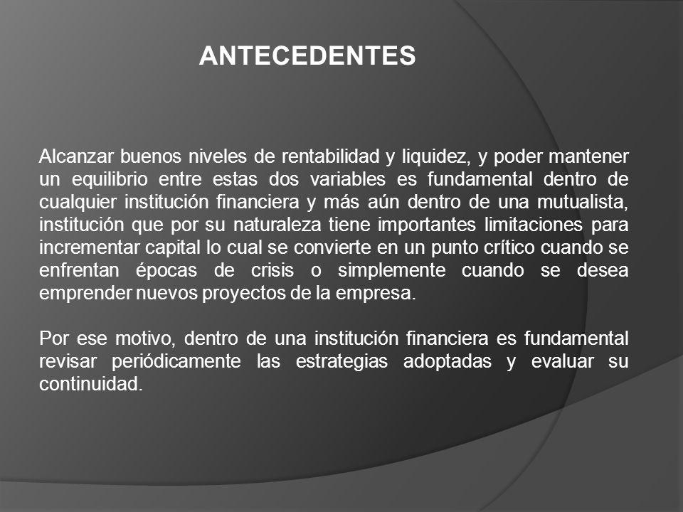 La principal fuente de ingresos de la Institución son los Intereses Ganados, representan casi un 60% de sus Ingresos Totales.