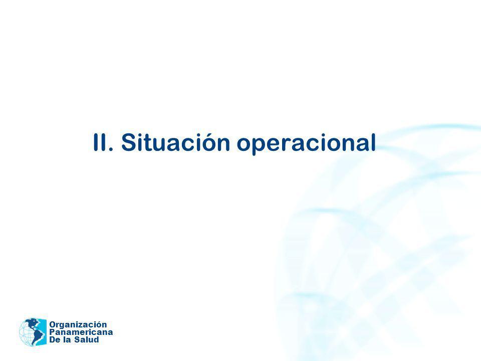 Organización Panamericana De la Salud II. Situación operacional