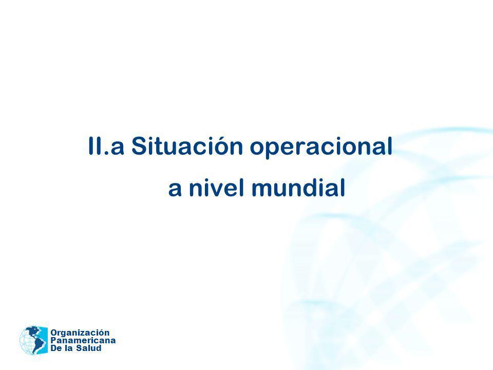 Organización Panamericana De la Salud II.a Situación operacional a nivel mundial