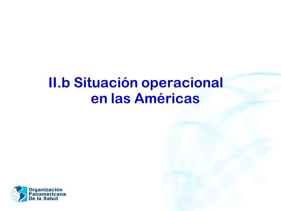 Organización Panamericana De la Salud II.b Situación operacional en las Américas