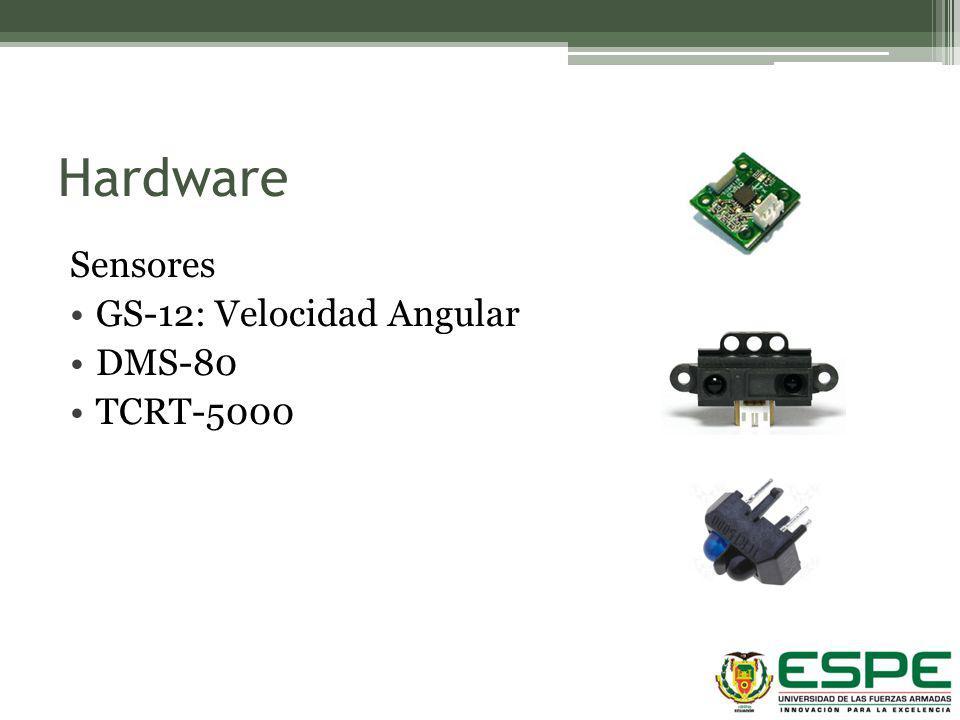 Hardware Sensores GS-12: Velocidad Angular DMS-80 TCRT-5000