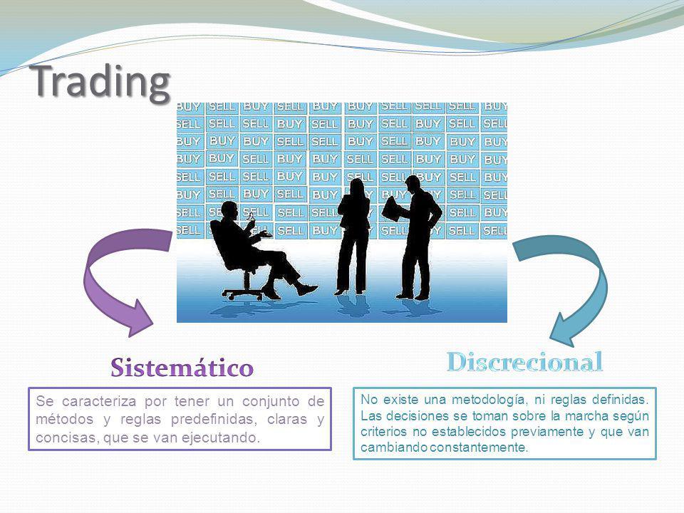 Trading Se caracteriza por tener un conjunto de métodos y reglas predefinidas, claras y concisas, que se van ejecutando. No existe una metodología, ni