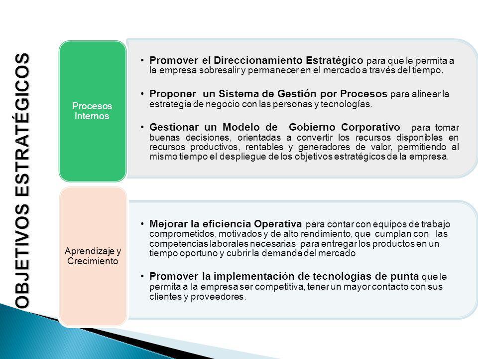Promover el Direccionamiento Estratégico para que le permita a la empresa sobresalir y permanecer en el mercado a través del tiempo.