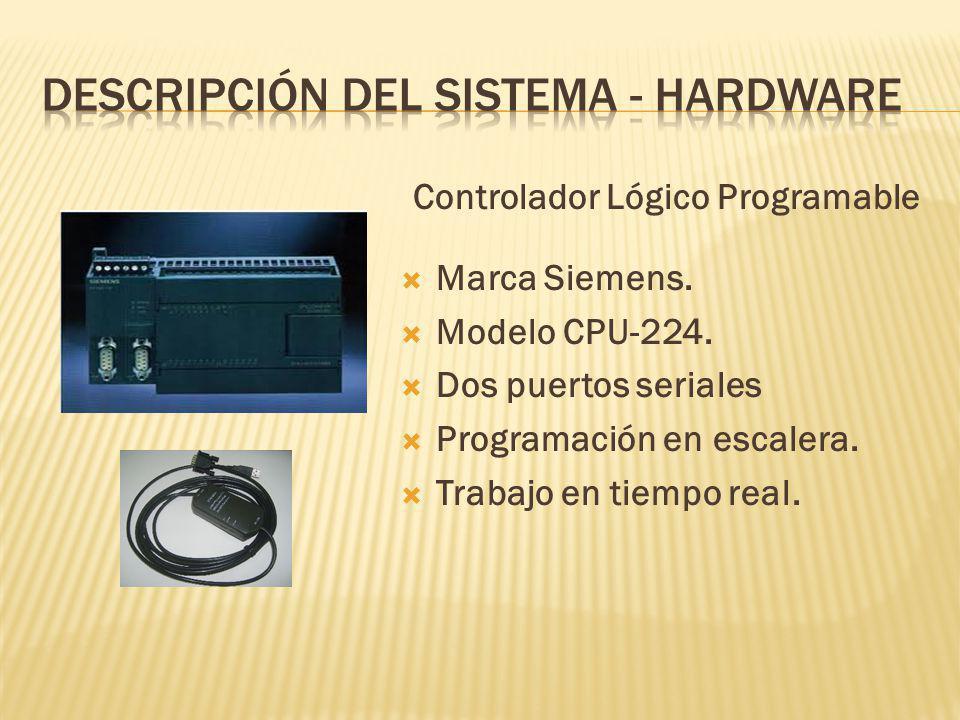 Controlador Lógico Programable Marca Siemens.Modelo CPU-224.
