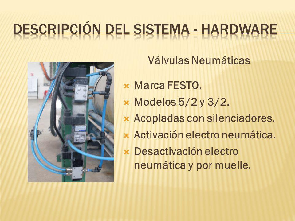 Válvulas Neumáticas Marca FESTO.Modelos 5/2 y 3/2.
