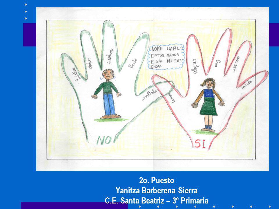 2o. Puesto Yanitza Barberena Sierra C.E. Santa Beatriz – 3º Primaria