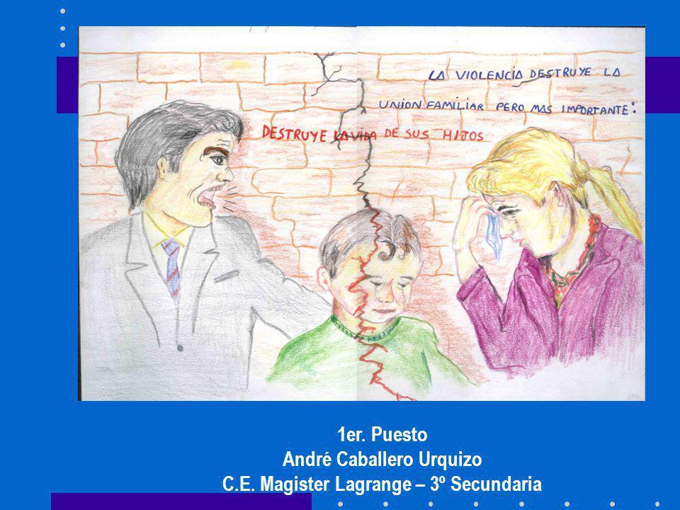 1er. Puesto André Caballero Urquizo C.E. Magister Lagrange – 3º Secundaria