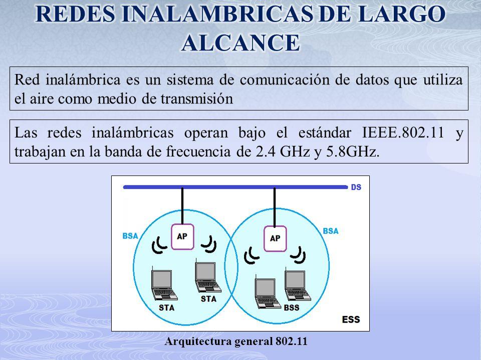Red inalámbrica es un sistema de comunicación de datos que utiliza el aire como medio de transmisión Las redes inalámbricas operan bajo el estándar IE