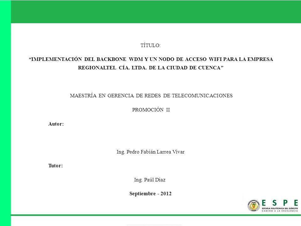 Capítulo III: Red de acometida Pedro Larrea Vivar Tesis Maestría 12/22
