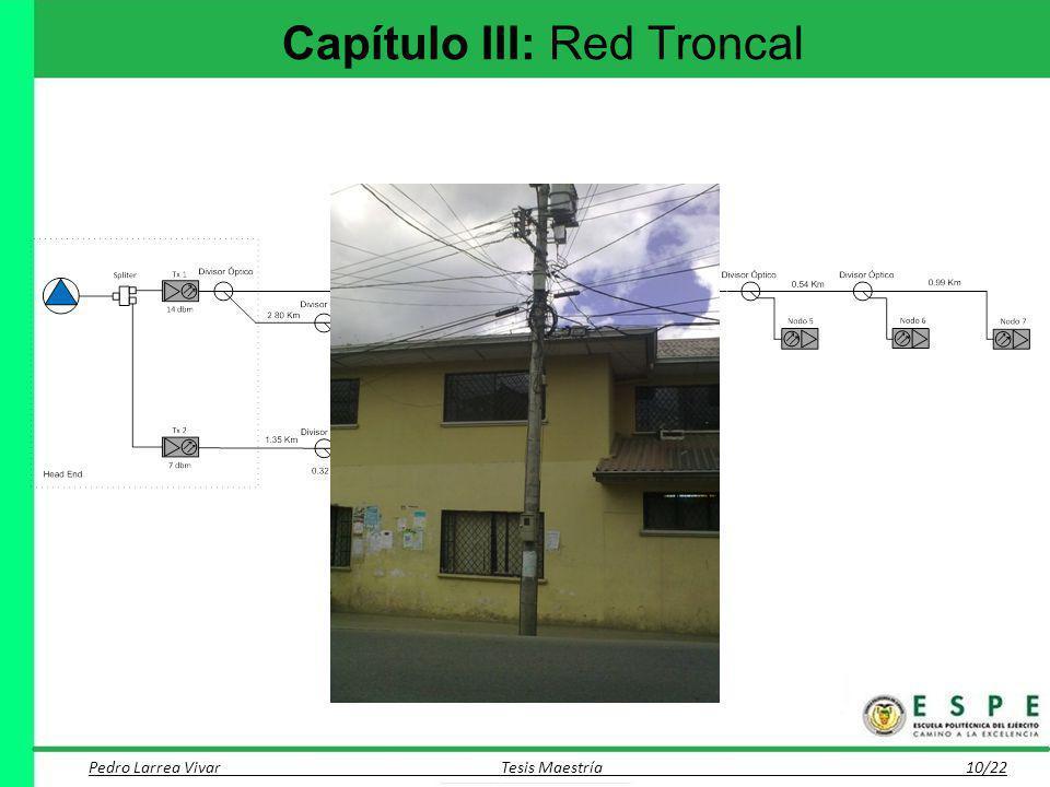 Capítulo III: Red Troncal Pedro Larrea Vivar Tesis Maestría 10/22