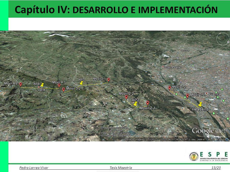 Capítulo IV: DESARROLLO E IMPLEMENTACIÓN Pedro Larrea Vivar Tesis Maestría 13/23