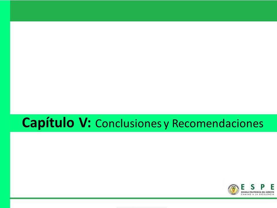 Capítulo V: Conclusiones y Recomendaciones