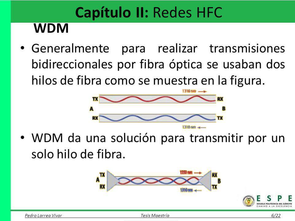 Capítulo II: Redes HFC Pedro Larrea Vivar Tesis Maestría 6/22