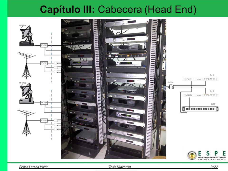 Capítulo III: Cabecera (Head End) Pedro Larrea Vivar Tesis Maestría 9/22