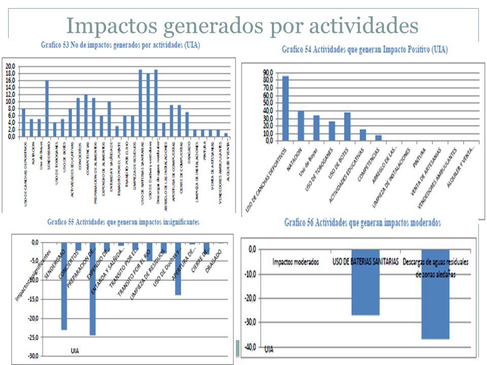 Impactos generados por actividades