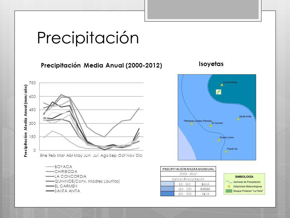 Precipitación Isoyetas