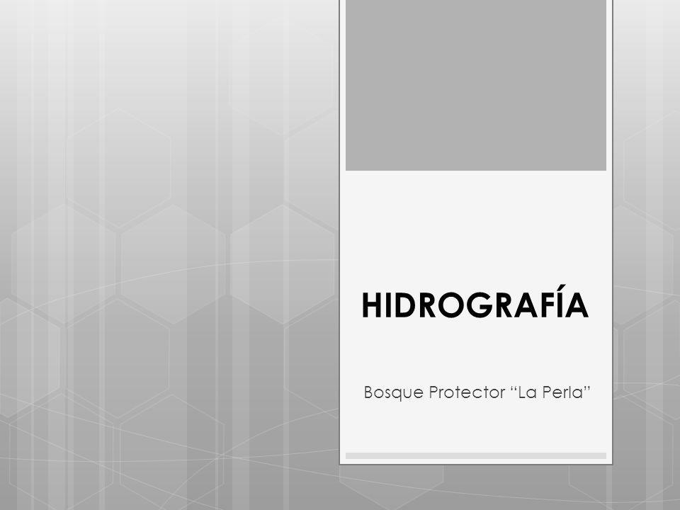 HIDROGRAFÍA Bosque Protector La Perla