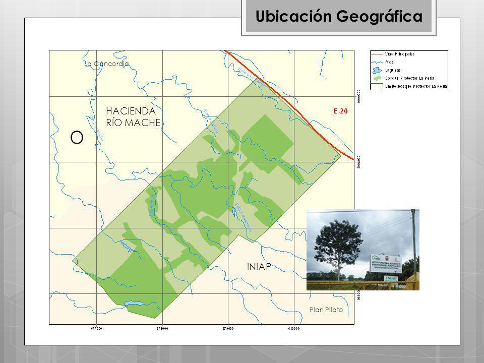 HACIENDA RÍO MACHE INIAP La Concordia Plan Piloto Ubicación Geográfica