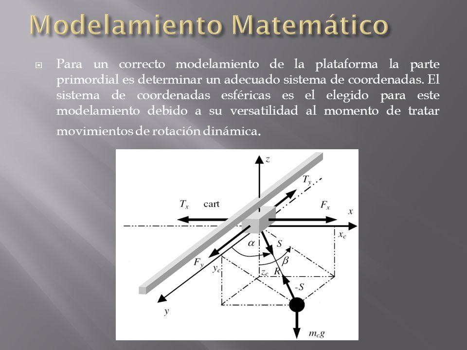 Para un correcto modelamiento de la plataforma la parte primordial es determinar un adecuado sistema de coordenadas.