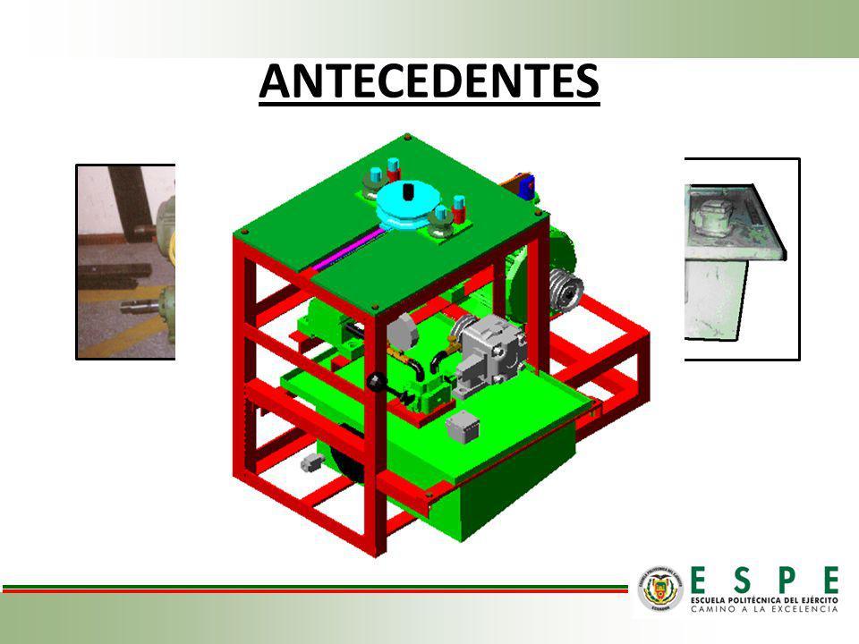 LEVANTAMIENTO TÉCNICO PROBLEMAS EXISTENTES PREVIO AL DESMONTAJE SISTEMACOMPONENTES HIDRÁULICOBOMBA VÁLVULAS Y MANÓMETROS COLECTOR Y MANGUERAS CONFORMADOEJES PORTA RODILLOS Y MATRICES CORREDERA BARRA DE ACOPLAMIENTO ELÉCTRICOCONEXIONES EXTERIORES TRANSMISIÓN DE POTENCIA BANDA FLEXIBLE PARTES DESMONTADAS