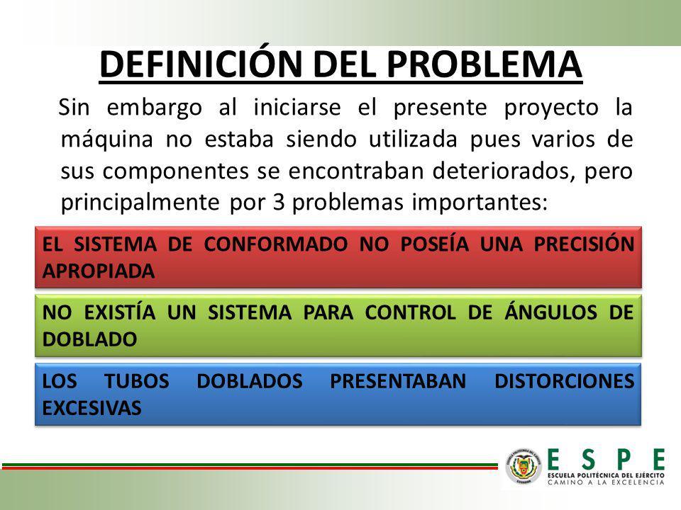 LEVANTAMIENTO TÉCNICO MOTOR ELÉCTRICO Y BANDAS MOTOR TRANSFORMADO DE 34 HP A 15 HP FUNCIONA ADECUADAMENTE CONEXIONES EXTERNAS SIN SEGURIDAD MOTOR TRANSFORMADO DE 34 HP A 15 HP FUNCIONA ADECUADAMENTE CONEXIONES EXTERNAS SIN SEGURIDAD BANDA EN MAL ESTADO FALTA DE TENSIÓN BANDA EN MAL ESTADO FALTA DE TENSIÓN DIAGNÓSTICO DE LA MÁQUINA Rediseño del sistema de conformado, remplazando el sistema de matriz y rodillos.