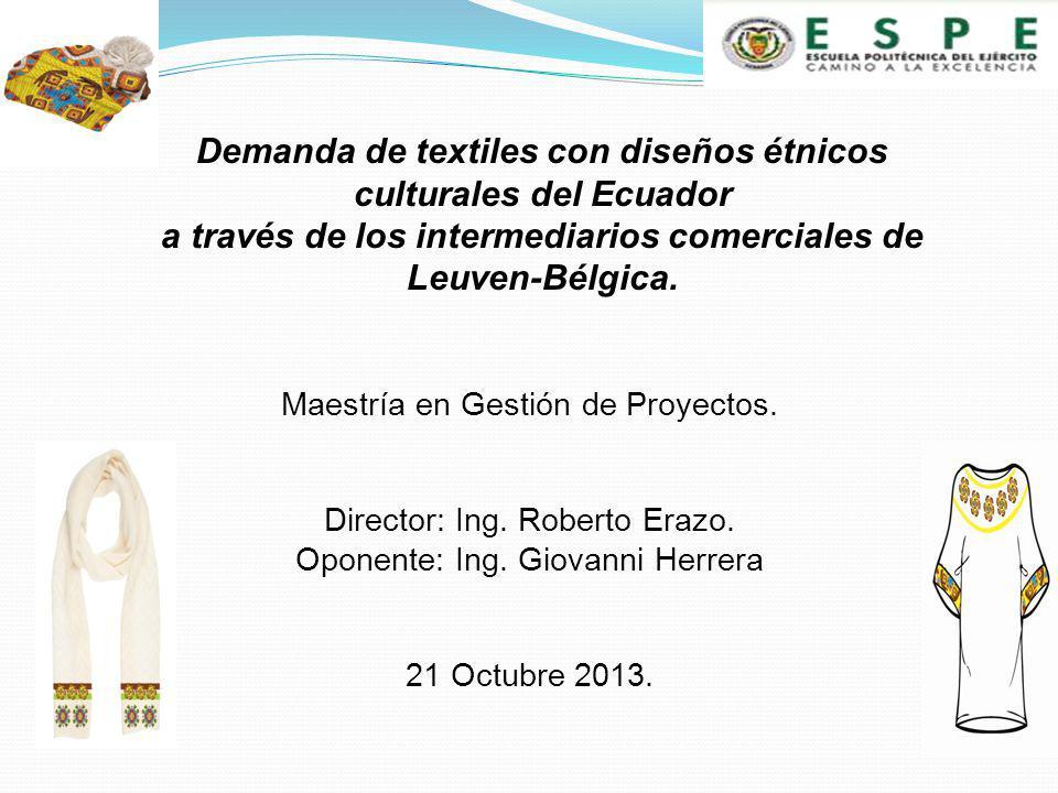 Maestría en Gestión de Proyectos.Director: Ing. Roberto Erazo.
