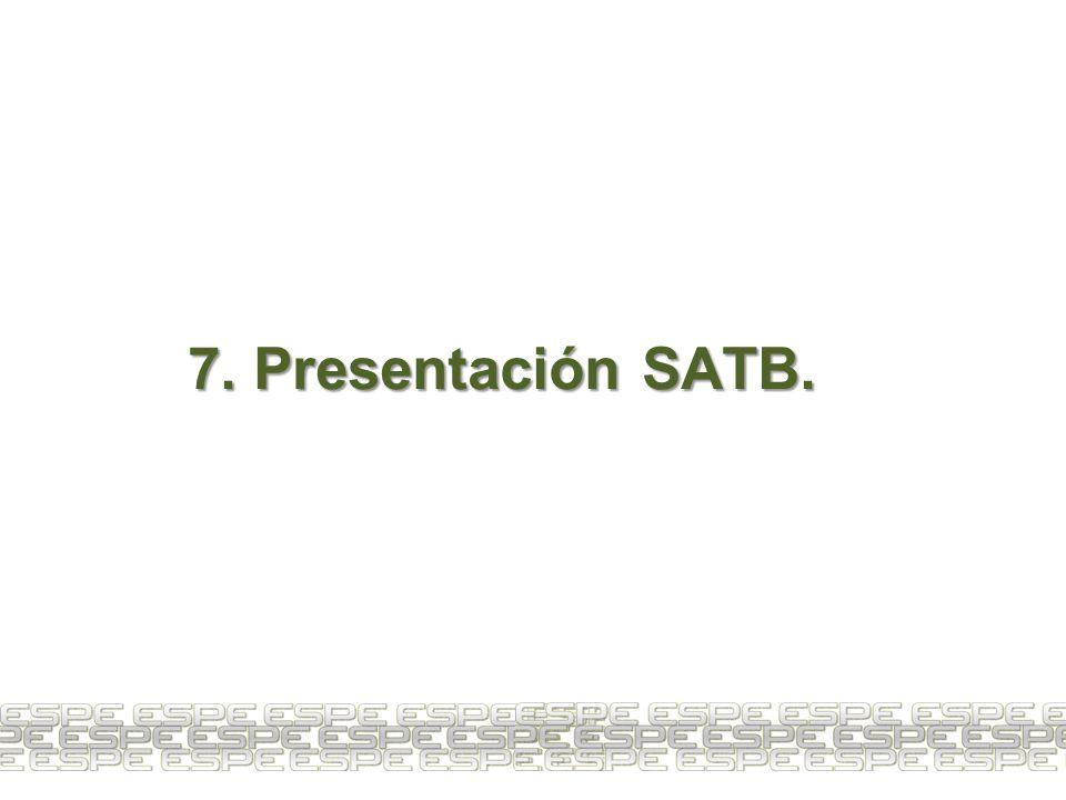 7. Presentación SATB.