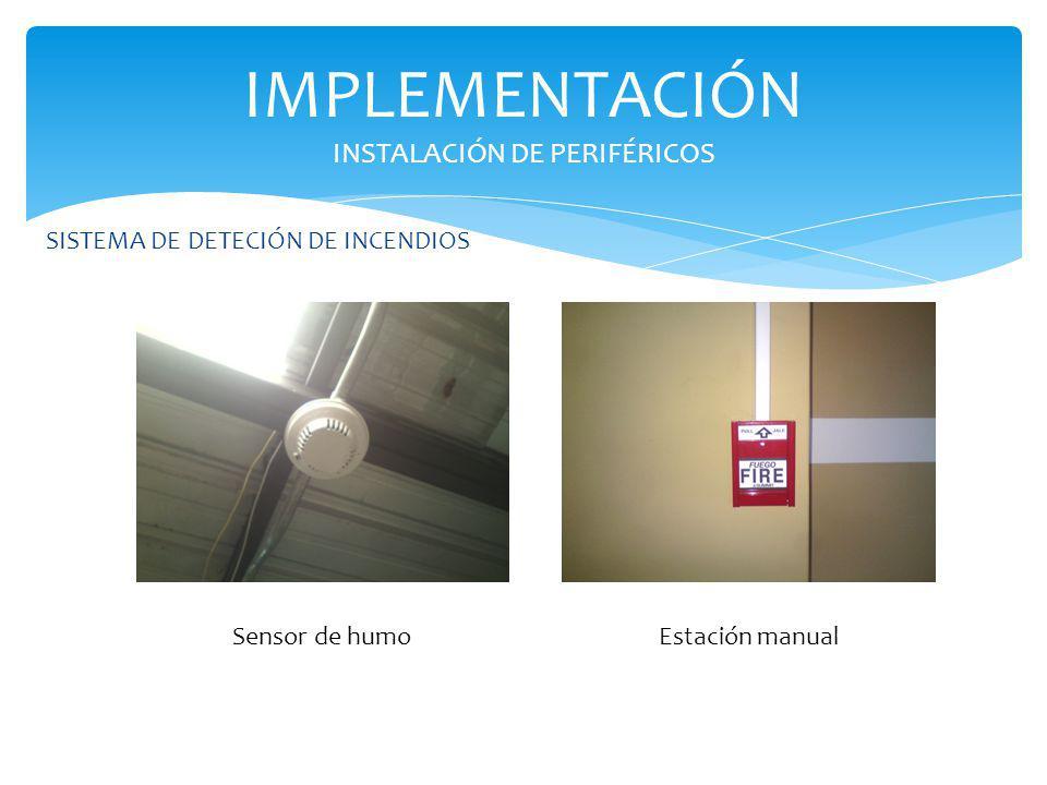 SISTEMA DE DETECIÓN DE INCENDIOS IMPLEMENTACIÓN INSTALACIÓN DE PERIFÉRICOS Sensor de humoEstación manual