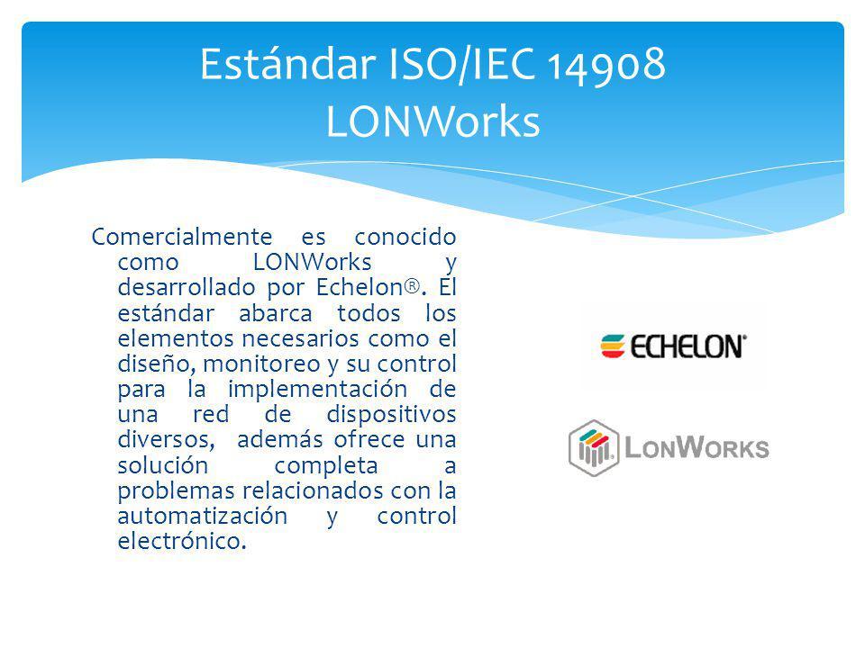 Comercialmente es conocido como LONWorks y desarrollado por Echelon®. El estándar abarca todos los elementos necesarios como el diseño, monitoreo y su