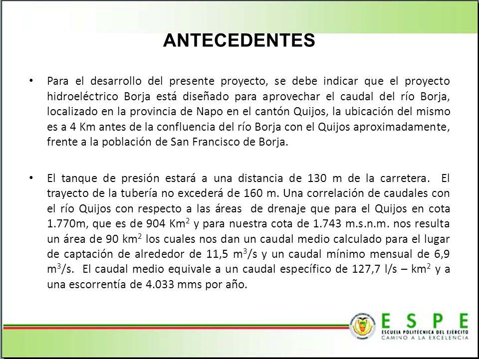 CAPITULO 3 ANÁLISIS DEL RECURSO HÍDRICO Y SELECCIÓN DE LA TURBINA