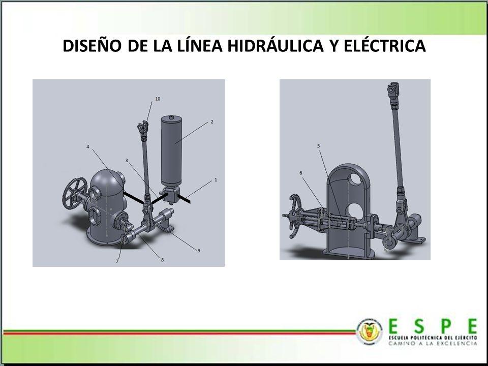 DISEÑO DE LA LÍNEA HIDRÁULICA Y ELÉCTRICA