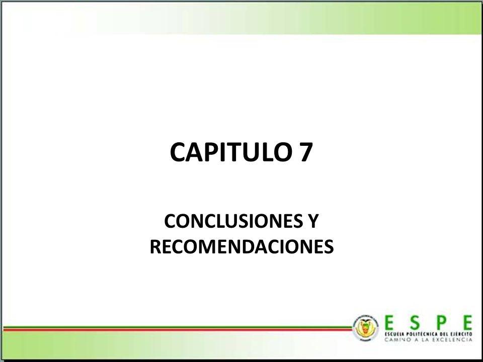 CAPITULO 7 CONCLUSIONES Y RECOMENDACIONES