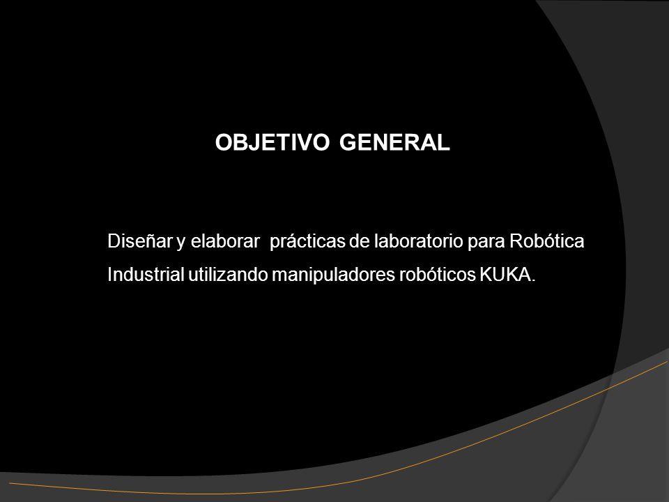 Diseñar y elaborar prácticas de laboratorio para Robótica Industrial utilizando manipuladores robóticos KUKA.
