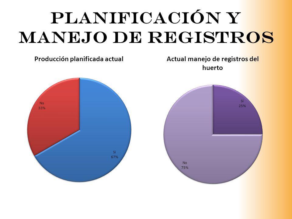 Planificación y manejo de registros