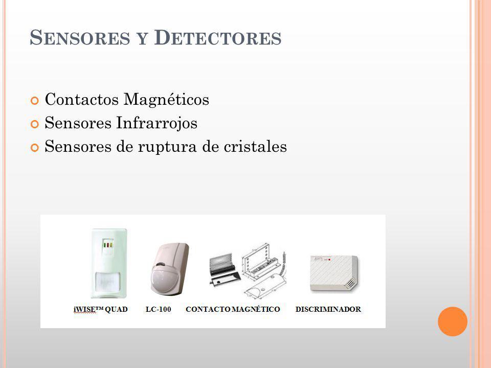 S ENSORES Y D ETECTORES Contactos Magnéticos Sensores Infrarrojos Sensores de ruptura de cristales
