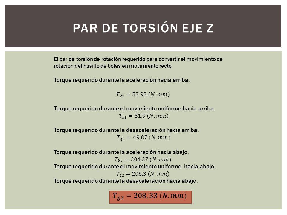 PAR DE TORSIÓN EJE Z